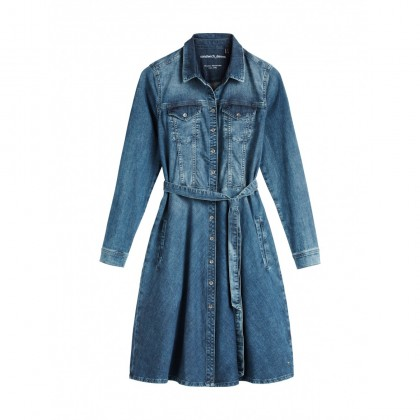 Denim-Kleid - Medium Blue Denim /