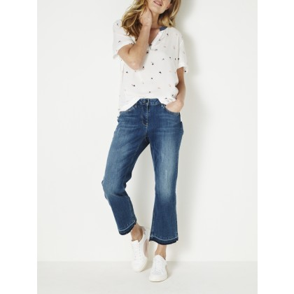 Belfast Cropped Jeans - Denim Blue /