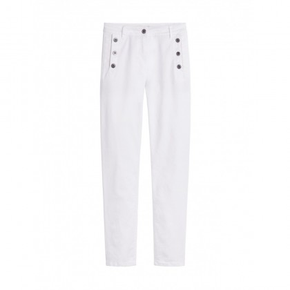 High Waist Skinny - Pure White /
