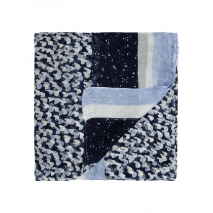 Schal mit All-over-Print - Fresh Blue /