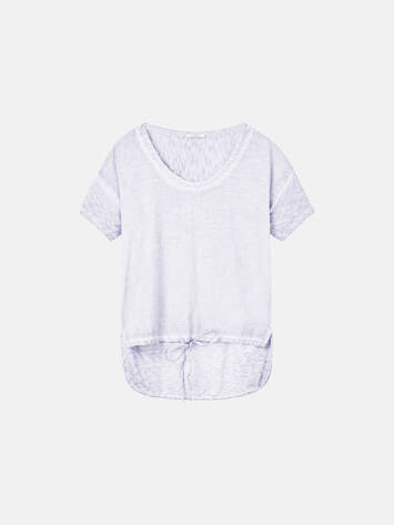 T-shirt with long back - Pastel Lilac /