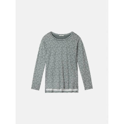 Essential Langarmshirt mit All-over-Print - Deep Jade /