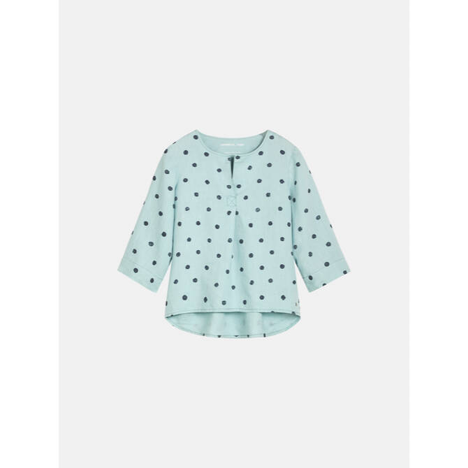 Top mit Punkteprint - Anise Green /