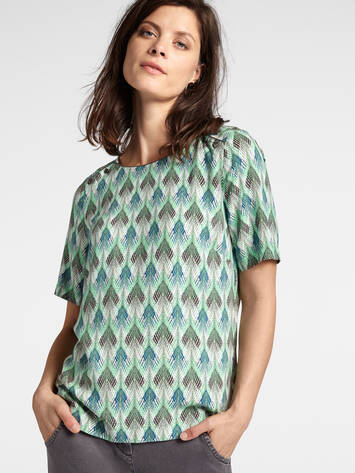 Woven T-shirt with print /