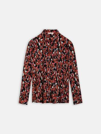 Bluse mit All-over-Print /