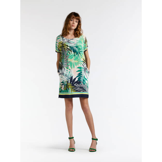 Kleid mit Palmenprint - Jolly Green /