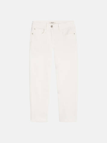 High Waist Skinny - Cropped - Spring White /