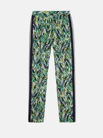 Sienna trousers with leave print - Jolly Green /