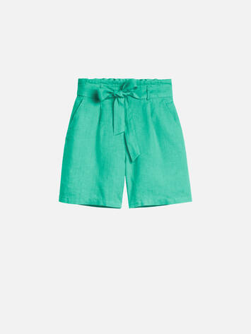 Paperbag Shorts- Jolly Green /