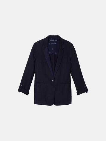 Jacket with single button closure - Maritime Blue /