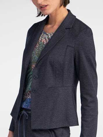 Punto Milano Blazer im Denim-Look /