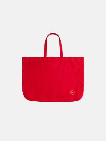 Shopper aus Leinen - Pop Red /